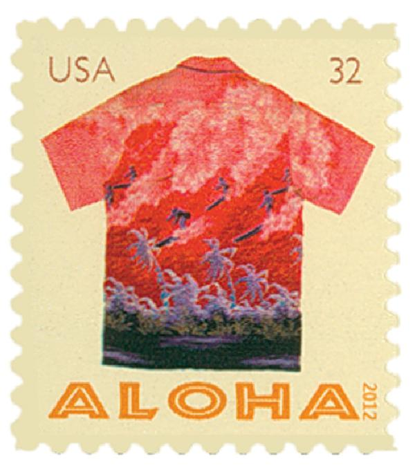 2012 32c Aloha Shirts-Surfers & Palms