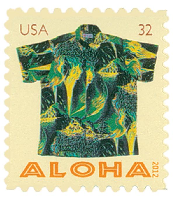 2012 32c Aloha Shirts: Kilauea Volcano