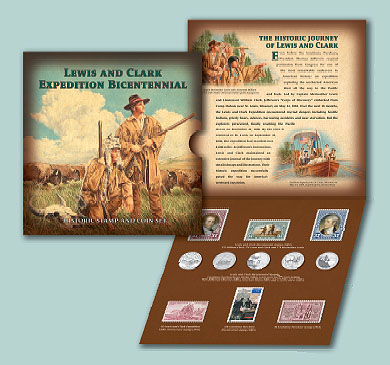 2005 Lewis & Clark Coin and Stamp Set