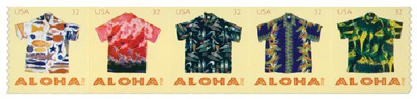2012 32c Aloha Shirts, coil stamps