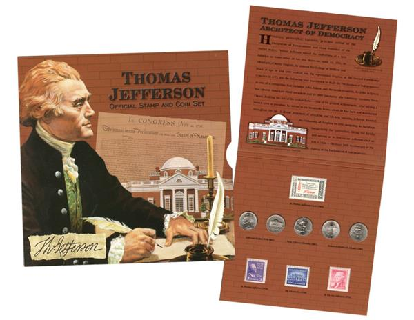 2006 Thomas Jefferson Coin & Stamp Set