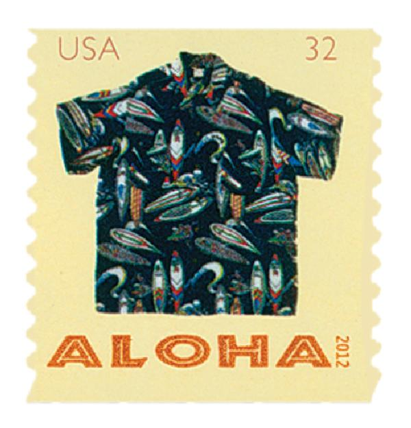 2012 32c Aloha Shirts-Surfers Design