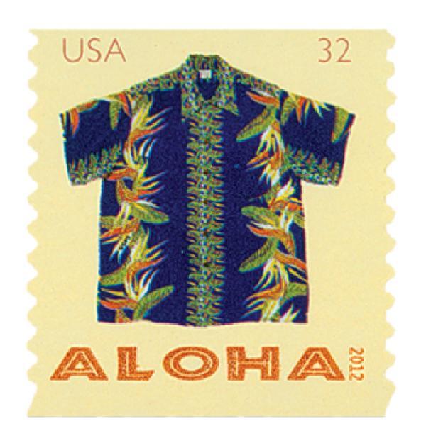 2012 32c Aloha Shirts-Paradise Flower
