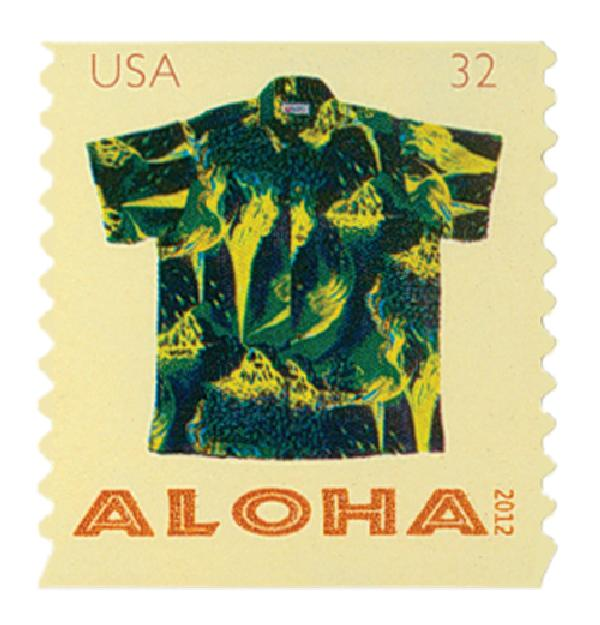2012 32c Aloha Shirts: Kilauea Volcano, coil