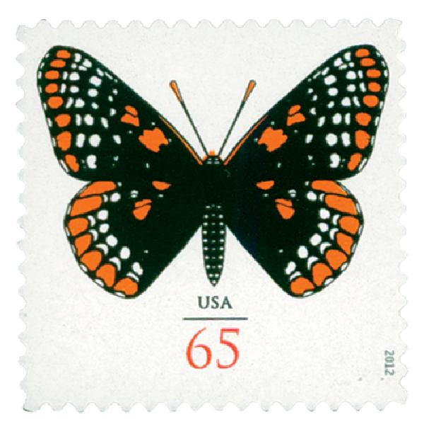2012 65c Baltimore Checkerspot Butterfly