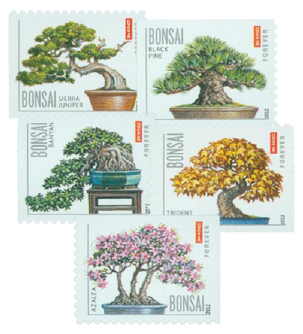2012 First-Class Forever Stamp - Bonsai Trees