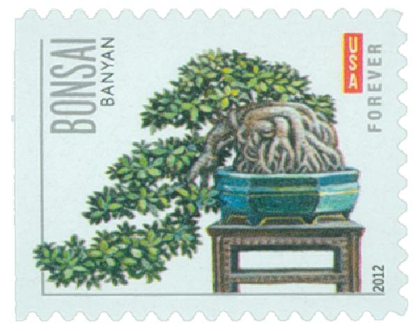 2012 First-Class Forever Stamp - Bonsai Trees: Banyan