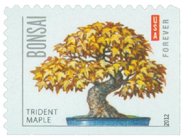 2012 First-Class Forever Stamp - Bonsai Trees: Trident Maple