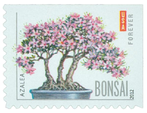 2012 First-Class Forever Stamp - Bonsai Trees: Azalea