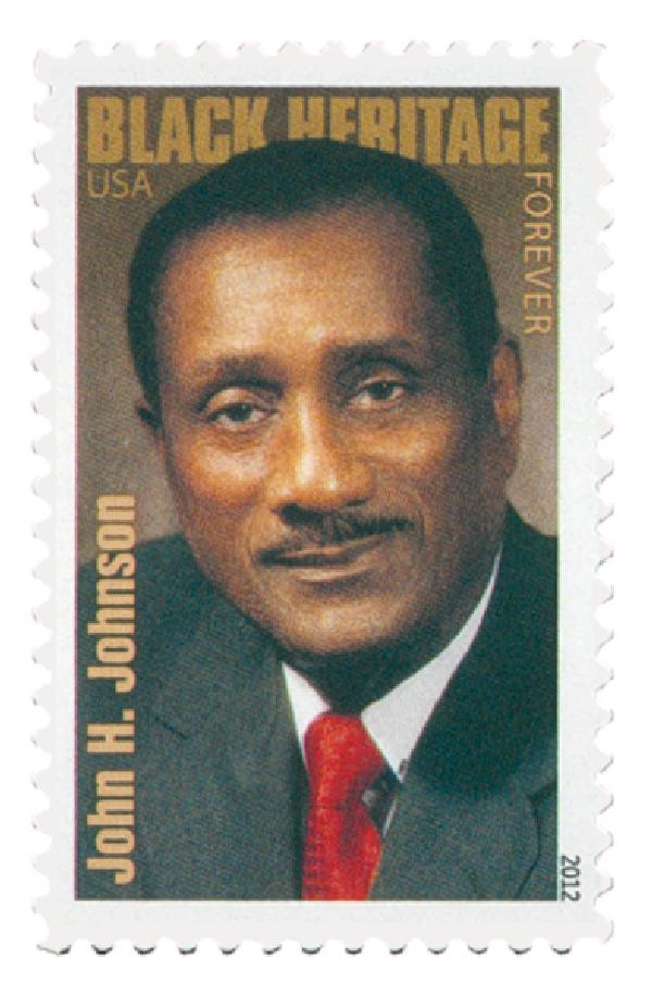 2012 First-Class Forever Stamp - Black Heritage: John H. Johnson
