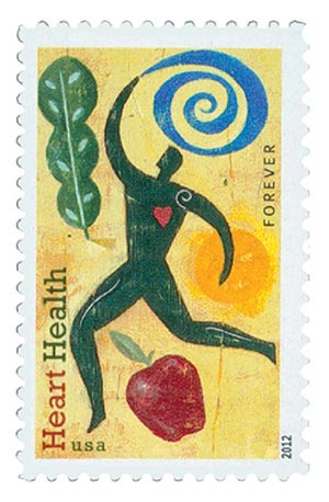 2012 First-Class Forever Stamp - Heart Health