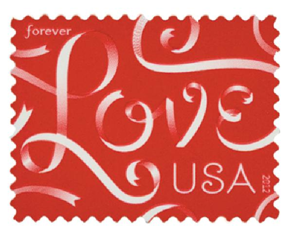 2012 First-Class Forever Stamp - Love Series: Love Ribbons