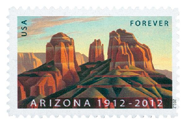 2012 First-Class Forever Stamp - Statehood: Arizona Centennial
