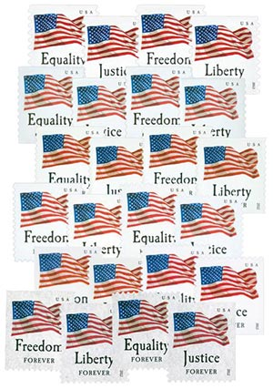 2012 Four Flags, Collection of 28 First-Class Forever Stamps