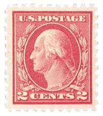 1916-17 2c Washington, carmine
