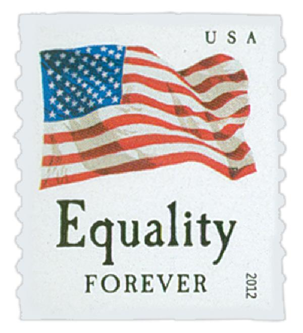 "2012 First-Class Forever Stamp - Flag and ""Equality"" (Ashton Potter)"