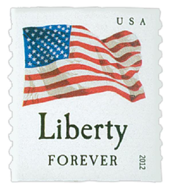 "2012 First-Class Forever Stamp - Flag and ""Liberty"" (Ashton Potter)"