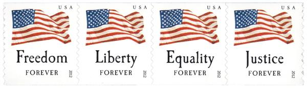 2012 Counterfeit U.S. Flags: Equality, Justice, Freedom and Liberty