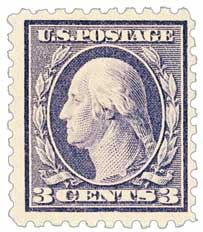 1916-17 3c Washington, violet