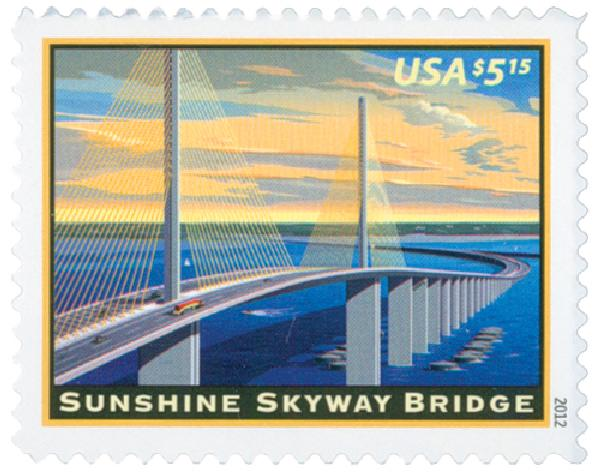 2012 $5.15 Sunshine Skyway Bridge, Priority Mail