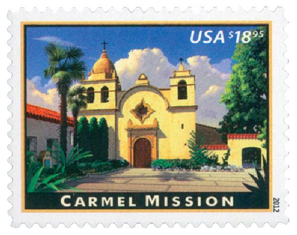 2012 $18.95 Carmel Mission, Express Mail