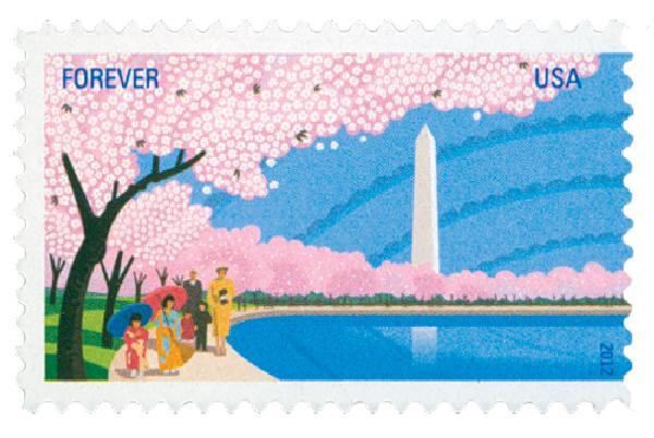 2012 First-Class Forever Stamp - Cherry Blossom Centennial: Washington Monument