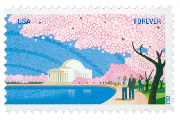 2012 First-Class Forever Stamp - Cherry Blossom Centennial: Jefferson Memorial