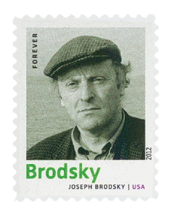 2012 First-Class Forever Stamp - 20th Century American Poets: Joseph Brodsky