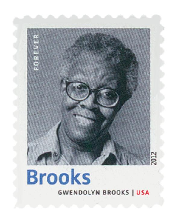 2012 First-Class Forever Stamp - 20th Century American Poets: Gwendolyn Brooks