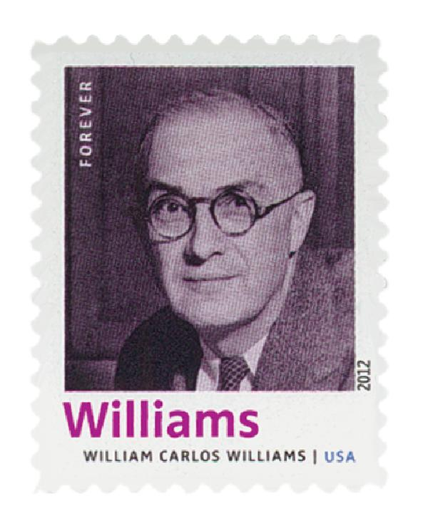 2012 First-Class Forever Stamp - 20th Century American Poets: William Carlos Williams