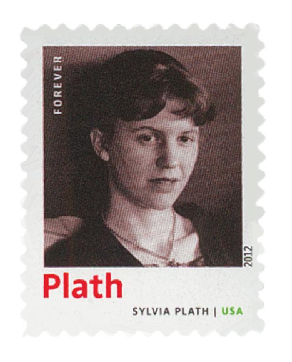 2012 First-Class Forever Stamp - 20th Century American Poets: Sylvia Plath