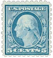 1916-17 5c Washington, blue