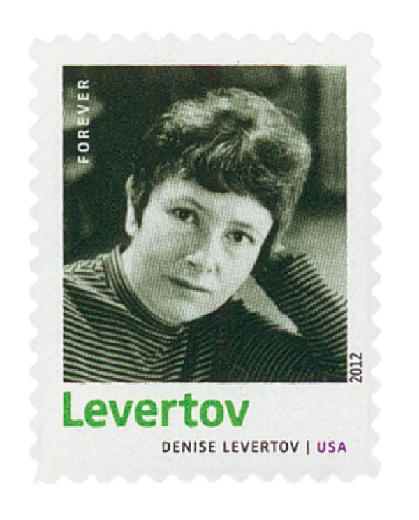 2012 First-Class Forever Stamp - 20th Century American Poets: Denise Levertov