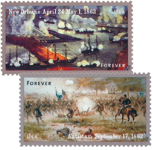 2012 First-Class Forever Stamp - The Civil War Sesquicentennial, 1862