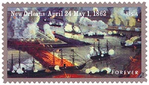 2012 First-Class Forever Stamp - The Civil War Sesquicentennial, 1862: Battle of New Orleans