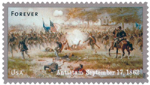 2012 First-Class Forever Stamp - The Civil War Sesquicentennial, 1862: Battle of Antietam