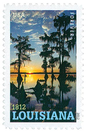 2012 First-Class Forever Stamp - Statehood: Louisiana Bicentennial