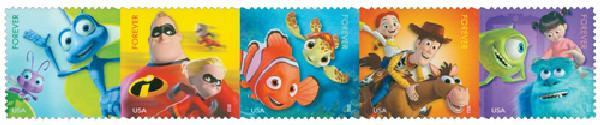 2012 First-Class Forever Stamp - Disney-Pixar Films: Mail a Smile