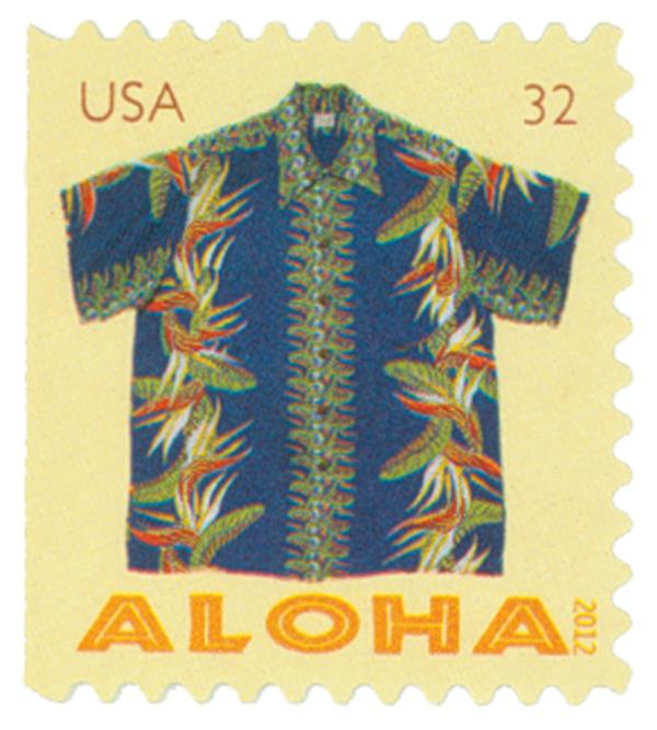 2012 32c Aloha Shirts: Bird of Paradise Flowers, booklet