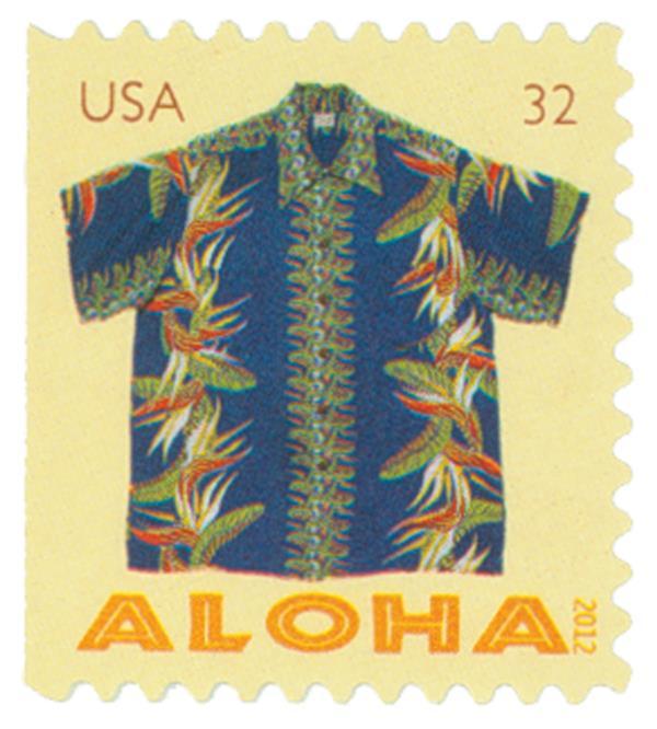 2012 32c Aloha Shirts-Paradise Flower Bk