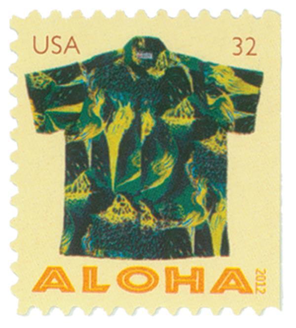 2012 32c Aloha Shirts: Kilauea Volcano, booklet