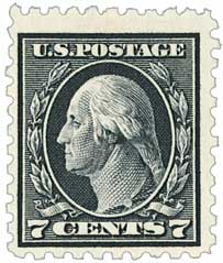1916 7c Washington, black