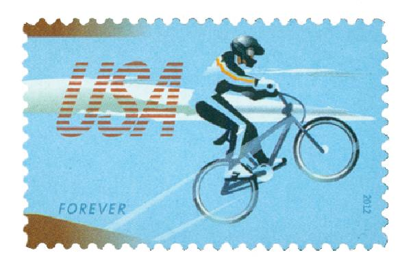 2012 First-Class Forever Stamp - Bicycling: BMX Racer