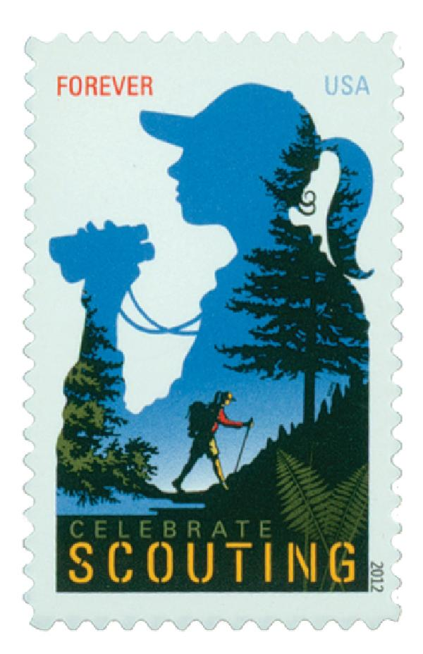 2012 First-Class Forever Stamp - Celebrate Scouting: Girl Scouts Centenary