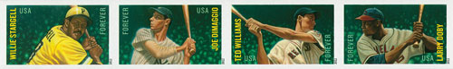 2012 First-Class Forever Stamp - Imperforate Major League Baseball All-Stars
