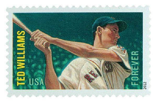 2012 First-Class Forever Stamp - Major League Baseball All-Stars: Ted Williams