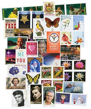 2012-15 US Imperforate Collection, 327 Mint Stamps