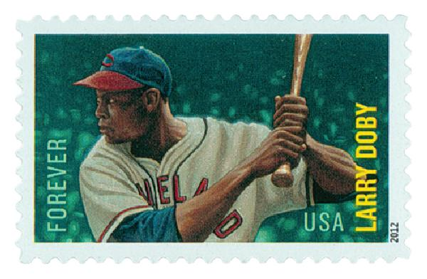2012 First-Class Forever Stamp - Major League Baseball All-Stars: Larry Doby