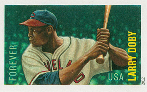 2012 45c Imperf Larry Doby-MLB All Stars