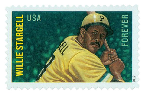 2012 First-Class Forever Stamp - Major League Baseball All-Stars: Willie Stargell